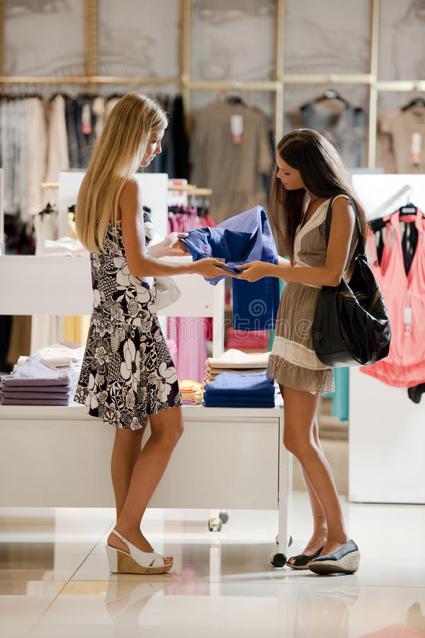 Download Young shoppers stock image. Image of beautiful, people - 15439897