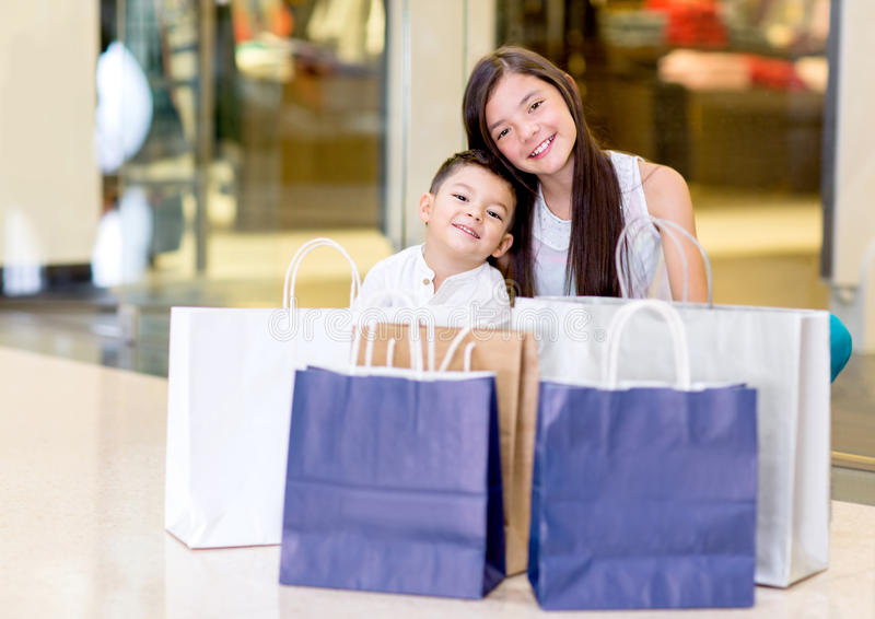 Download Young shoppers stock image. Image of mall, kids, retail - 30060549