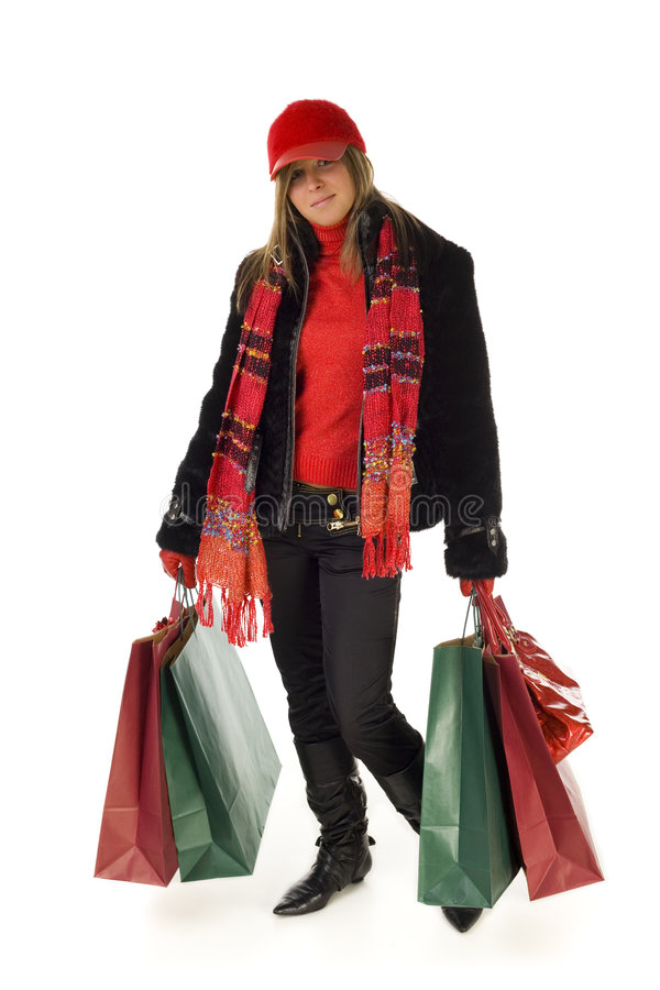 Download Young shopping woman stock image. Image of colorful, sale - 3864213