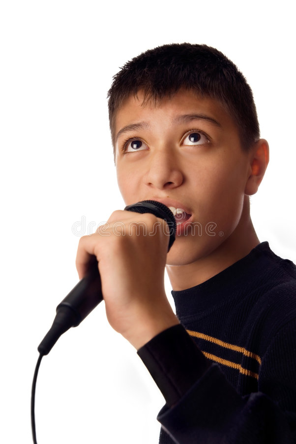 Download Young singer stock photo. Image of children, portraiture - 2312424