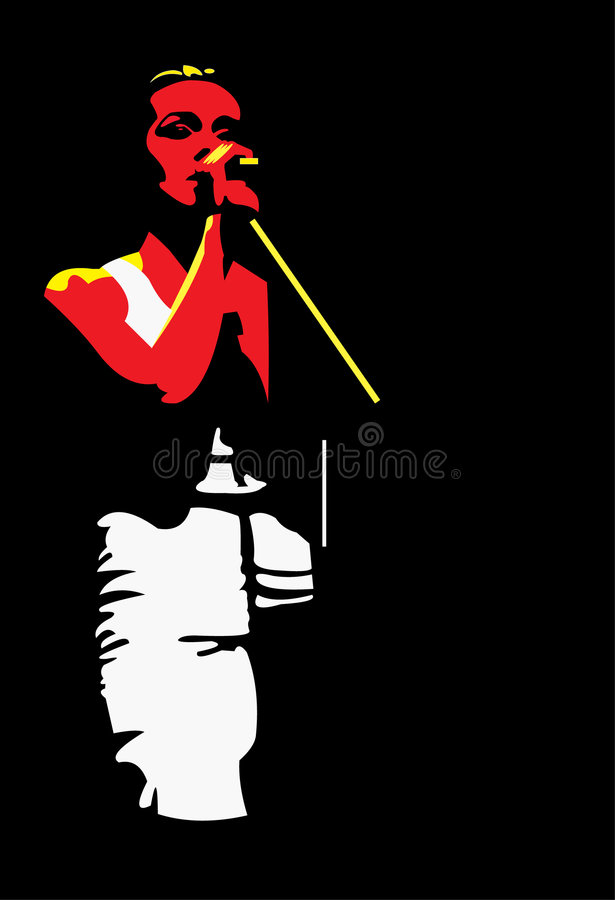 Download Young singer stock vector. Image of female, music, singing - 5600010
