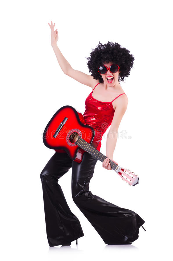 Download Young singer with afro cut stock photo. Image of afrocut - 30591232