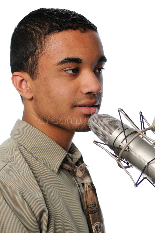 Free Young Singer Performing Stock Photography - 4759462