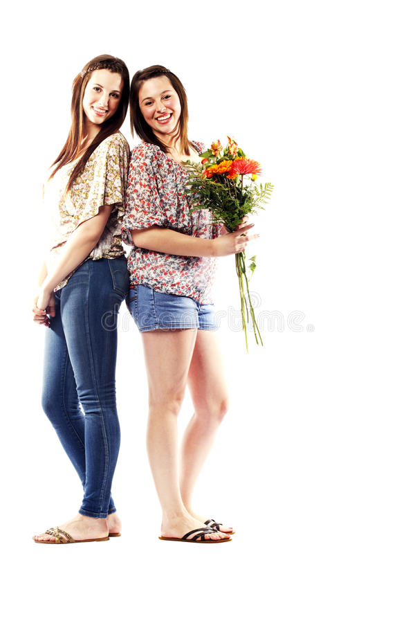 Download Young Sisters Interacting With Eachother Stock Image - Image: 26615875