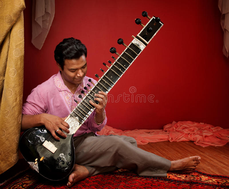 Young Sitar Musician stock photos