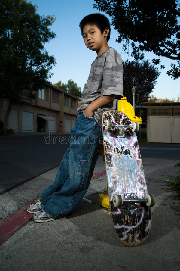 Young skate boarder stock images