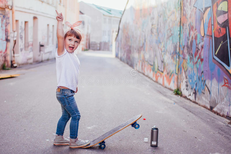 Young skater stock photo