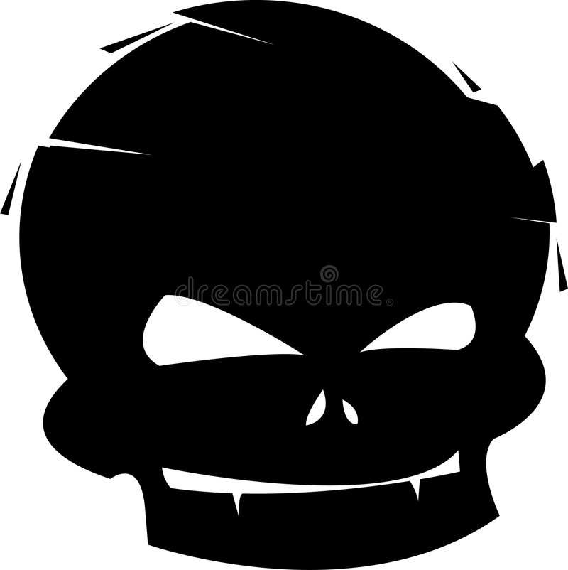Young Skull. Its an illustration of a skull made in a funny way and looks like young skull stock illustration
