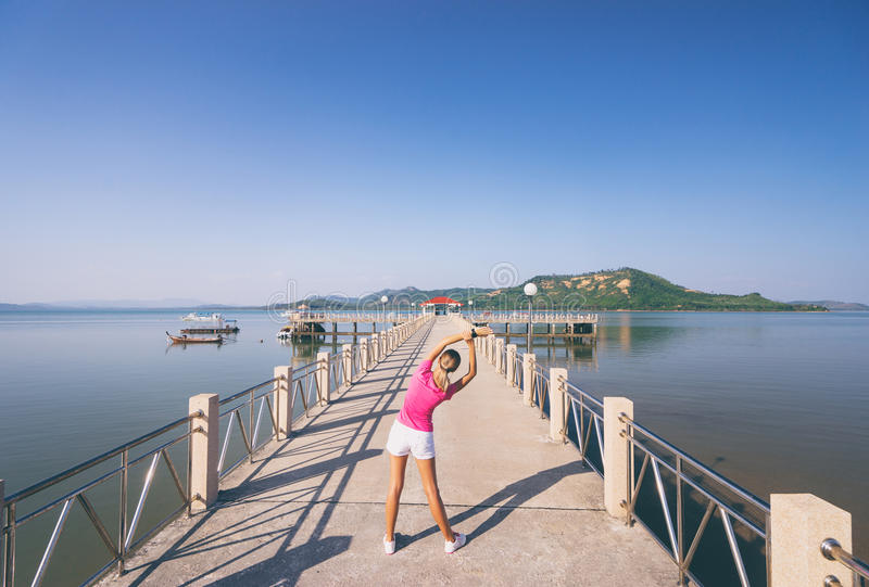 Download Young Slim Woman Exercising Stock Image - Image: 91440953