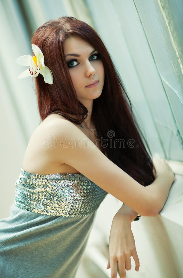 Download Young slim woman portrait stock photo. Image of lady - 13456530