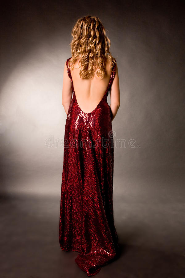 Free Young Slip Of A Girl A Blonde In An Evening Dress Royalty Free Stock Photography - 15856437