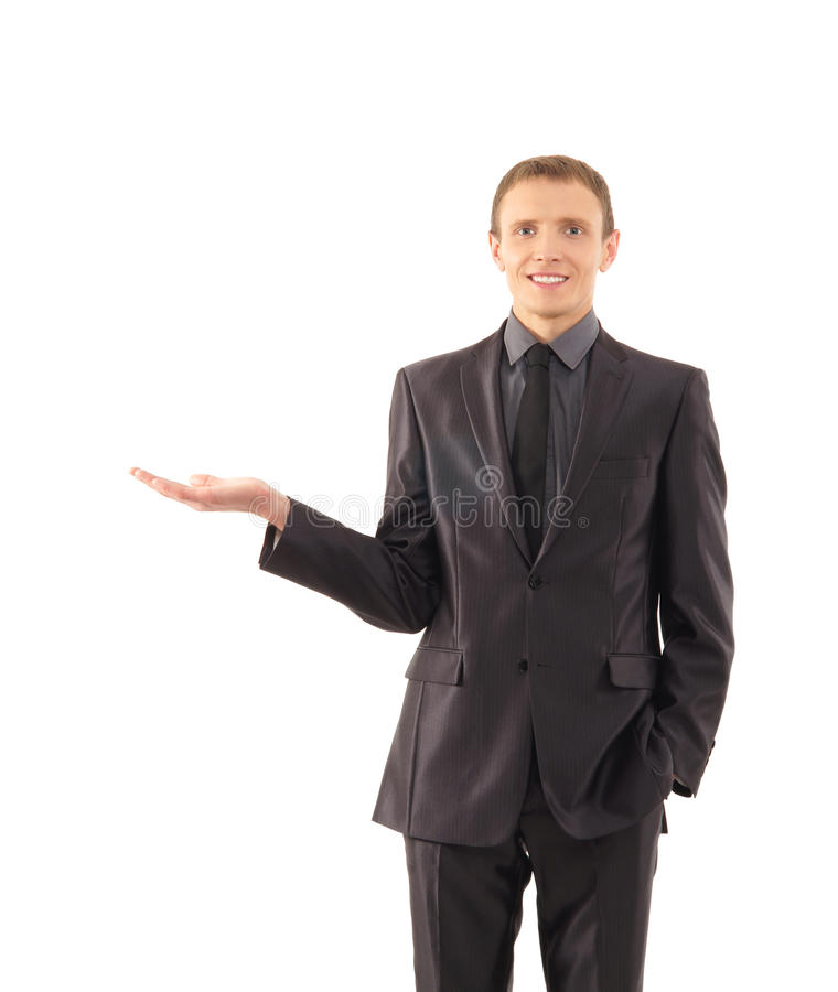 A Young And Smart Businessman In Formal Clothes Stock Photos