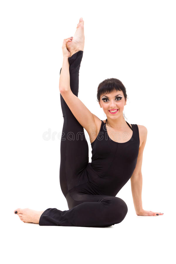 Download Young smiling acrobat stock photo. Image of exercise - 27094686