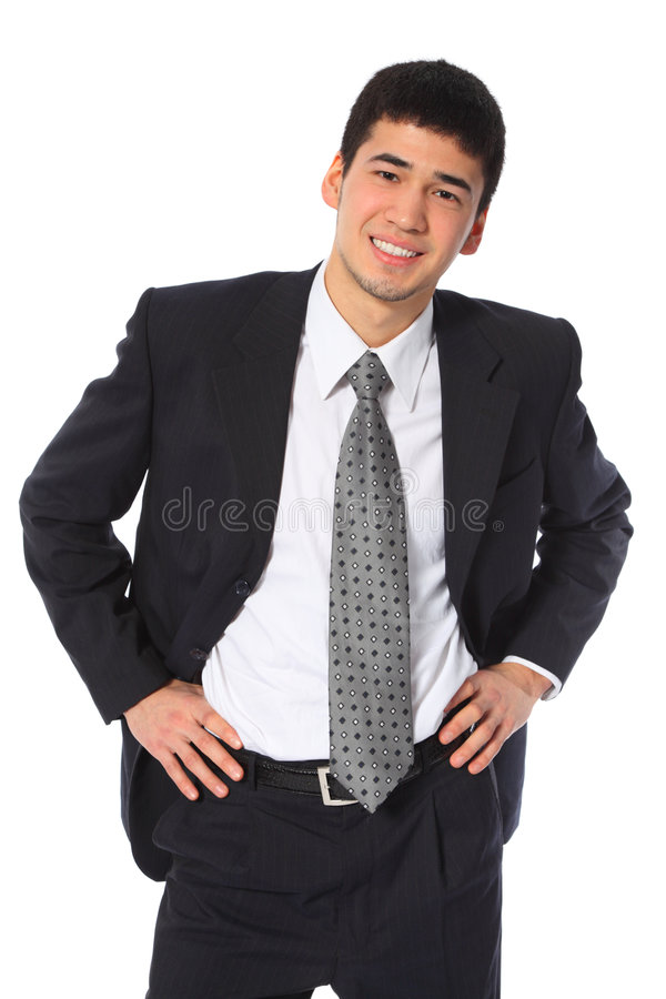 Young smiling asian businessman royalty free stock images