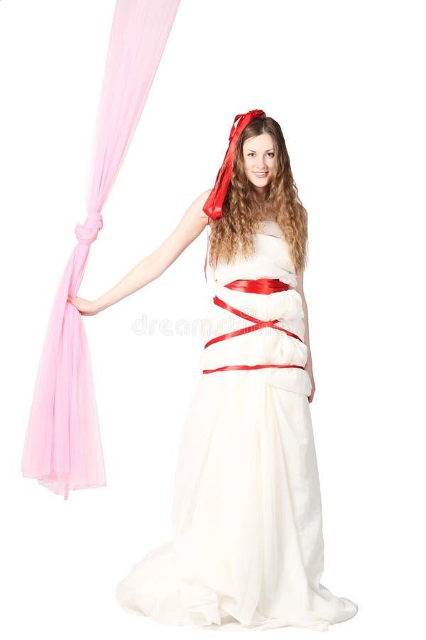 Download Young Smiling Bride Posing In Studio Stock Image - Image: 19112473