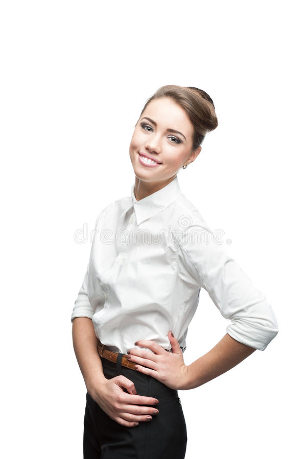 Download Young Smiling Business Woman Stock Image - Image: 27644253