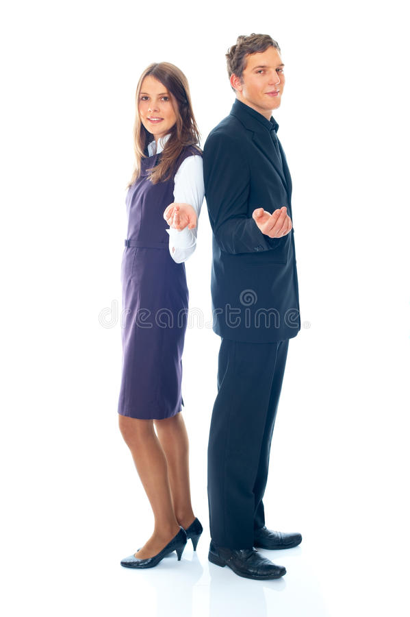 Download Young Smiling Business Woman And Business Man Stock Image - Image: 17598189
