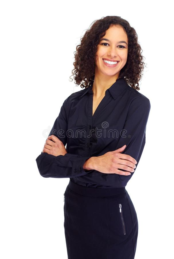 Young smiling business woman portrait. royalty free stock photo