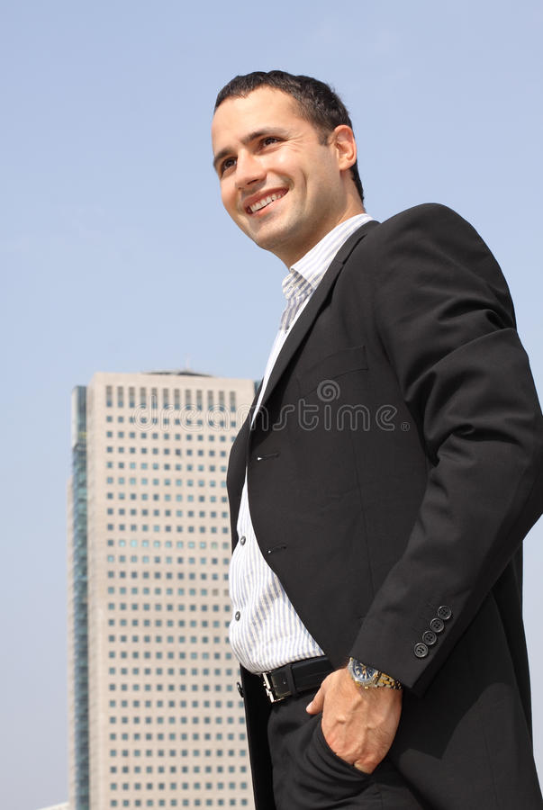 Download Young smiling businessman stock image. Image of communication - 16308085