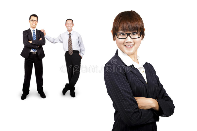 Young smiling businesswoman royalty free stock images