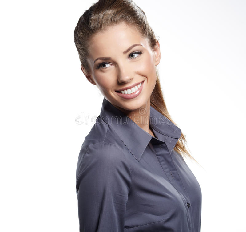 Download Young Smiling Businesswoman Stock Photo - Image: 27808964