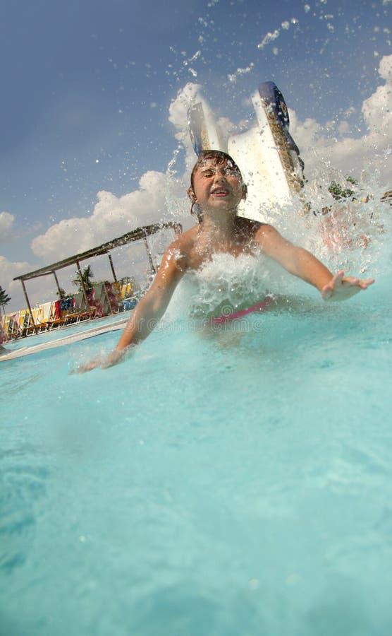 Download Young Smiling Child Having Fun On Aquapark Stock Image - Image: 26276925