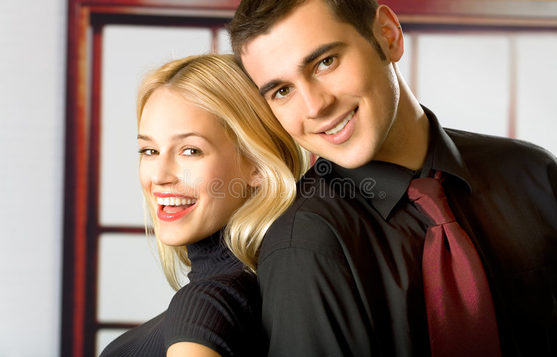 Download Young smiling couple stock photo. Image of people, boyfriend - 2408608