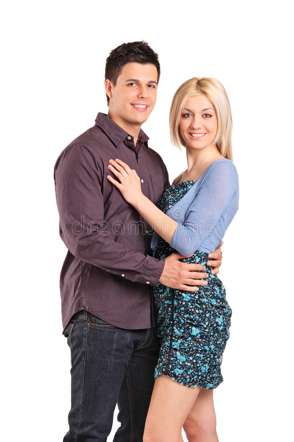 Download Young Smiling Couple In An Embrace Stock Image - Image of adult, pair: 19517633