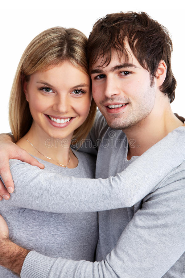 Young smiling couple. royalty free stock images