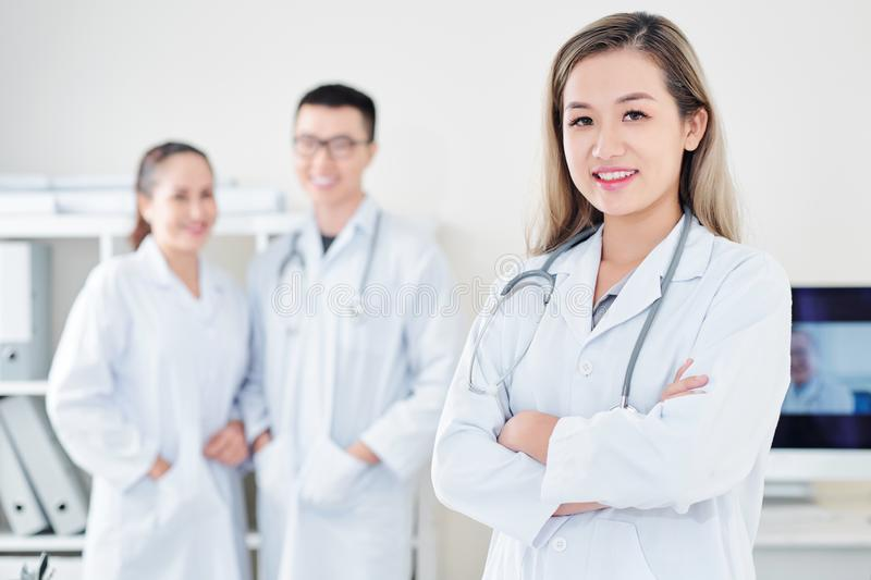 Young smiling general practitioner stock photography