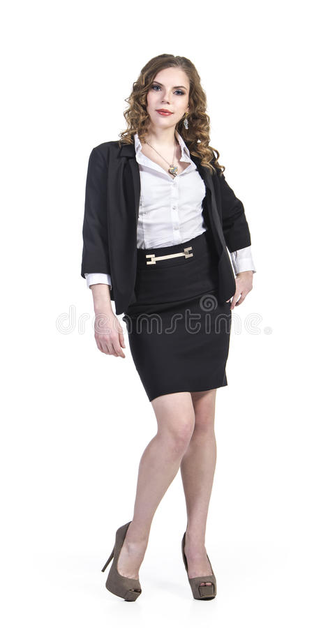 Young smiling girl . The business style. stock photo