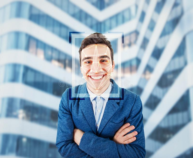 Facial recognition system royalty free stock photography