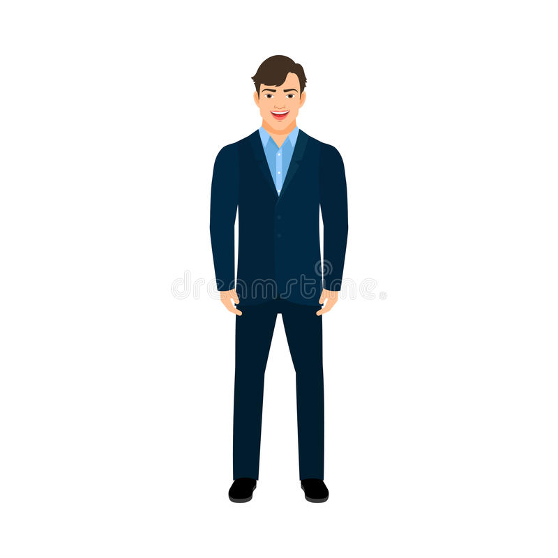 Young smiling manager man stock illustration