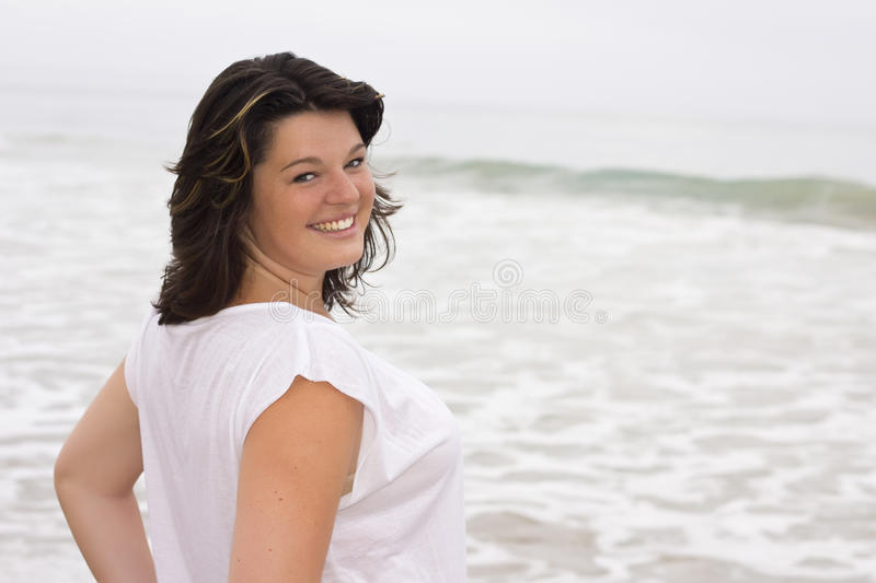 Download Young smiling woman stock photo. Image of dark, caucasian - 32646570