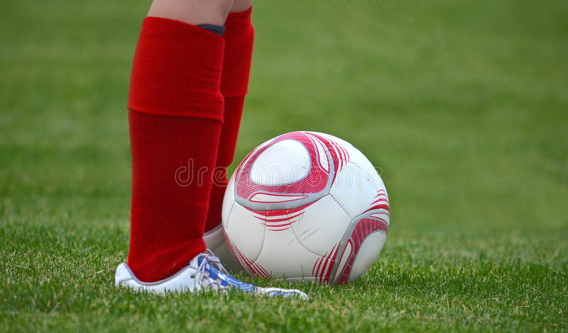 Young soccer player royalty free stock images