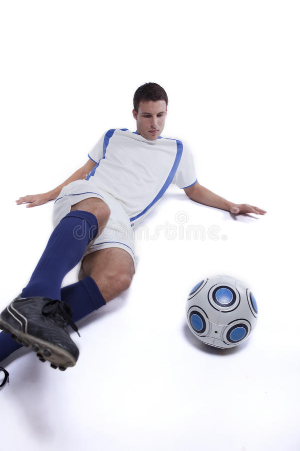Download Young Soccer Player In Action Stock Image - Image of hobby, leisure: 16384133