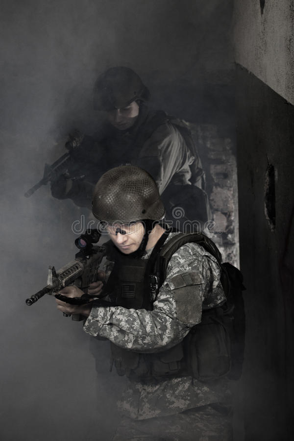 Young Soldiers Royalty Free Stock Photo