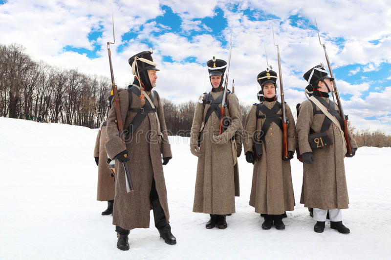 Young Soldiers At Historical Reconstruction Editorial Photo