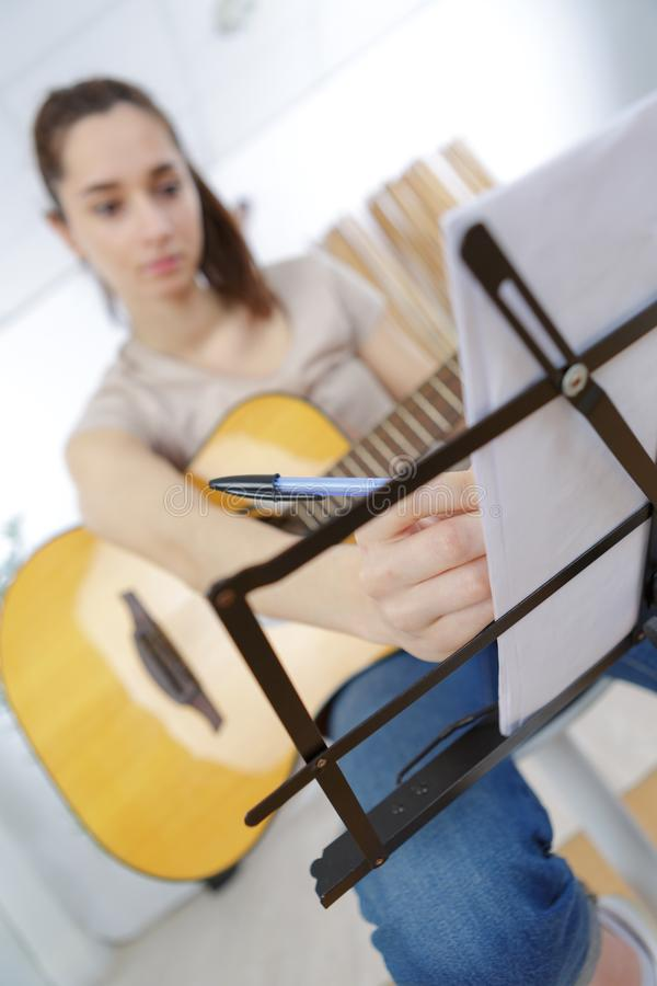 The young song composer stock images