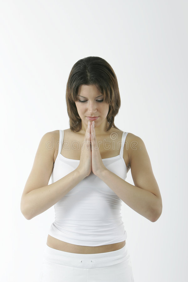 Young Spiritual Woman Stock Image