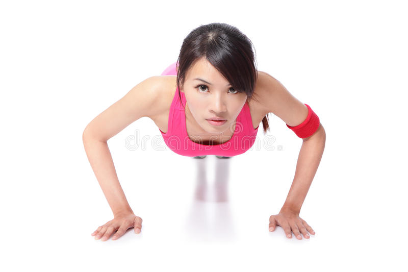 Download Young Sport Woman Doing Push Up Stock Image - Image: 27599963