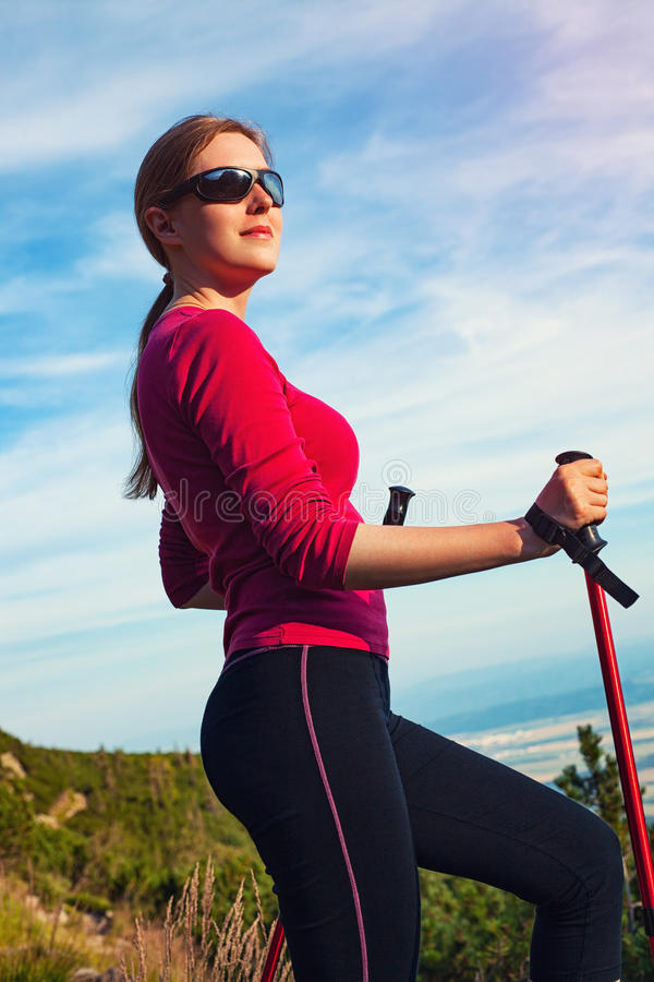 Young sport woman stock images