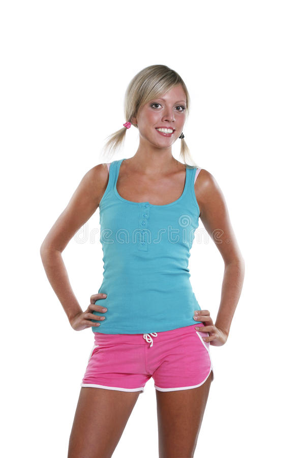 The young sports girl royalty free stock photo