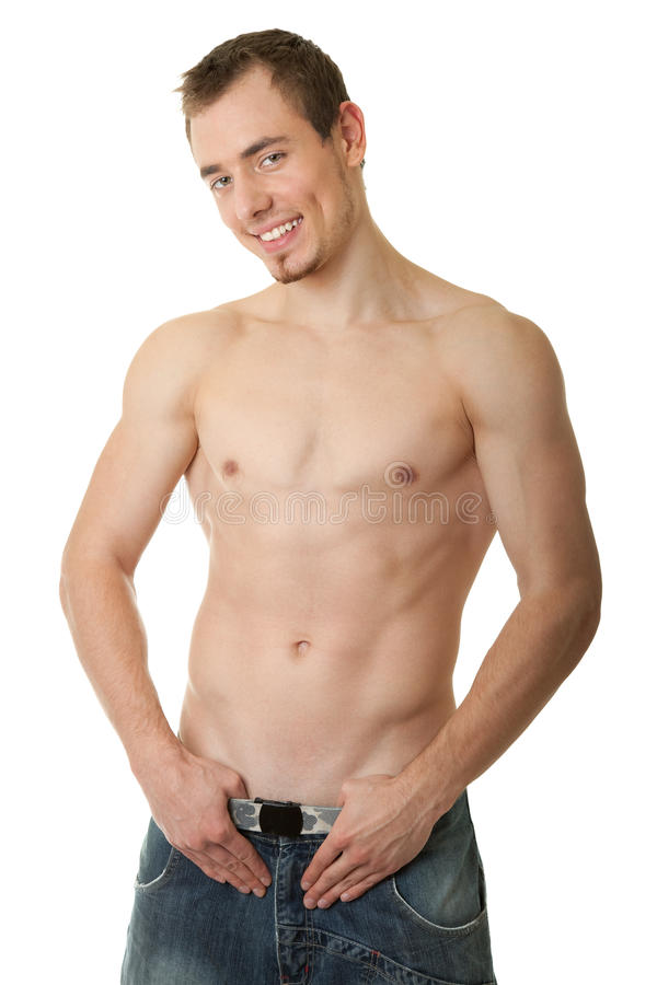 Download Young Sportsman With A Bare Torso Stock Photo - Image: 12128686