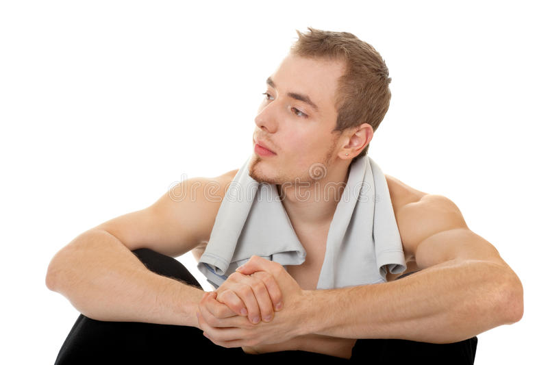 Download Young Sportsman With A Bare Torso Stock Image - Image: 13436419