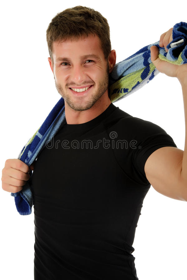 Young sporty caucasian man stock photo