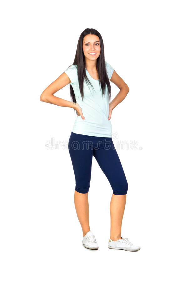 Download Young Sporty Girl stock image. Image of slim, caucasian - 26967149