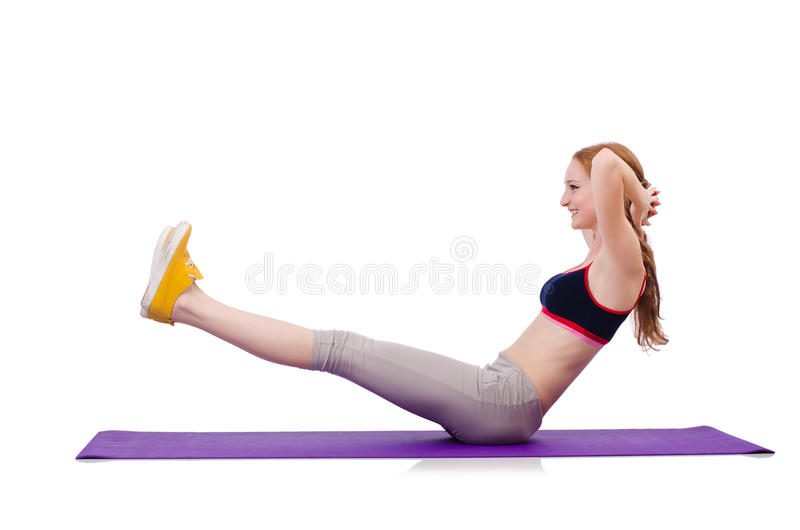 Download Young sporty woman stock photo. Image of caucasian, active - 36973310