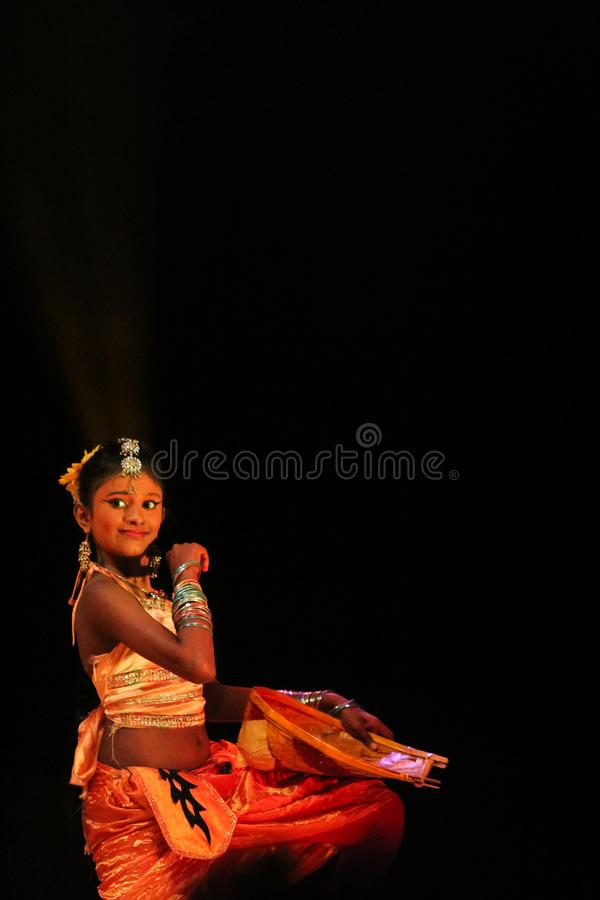 Young Sri Lankan cultural performances stock photo