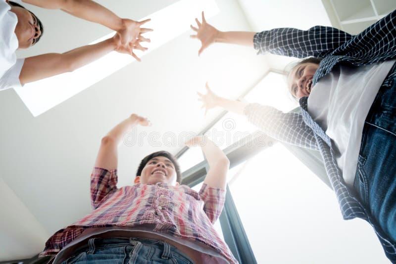 Businessmen teamwork brainstorming meeting. royalty free stock images